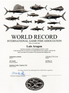 snakehead world record 2014